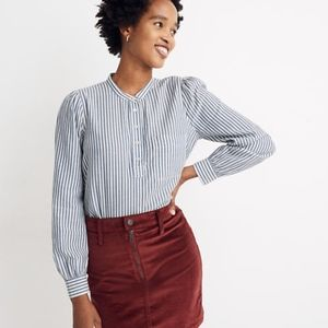 Madewell Puff-Sleeve Popover Shirt (BNWT!!)